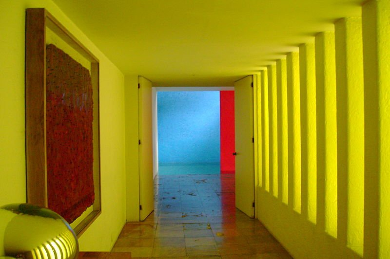Interior of Casa Gilardi, by Luis Barragan