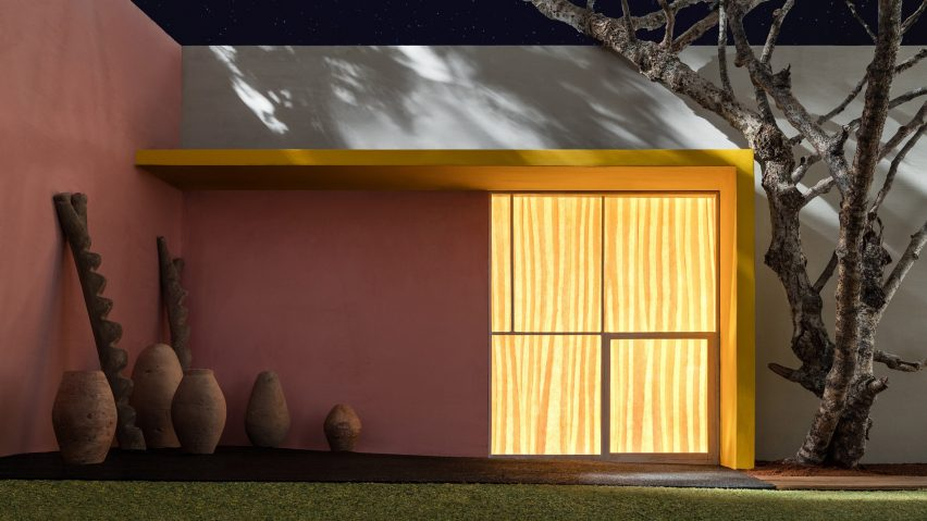James Casebere, Yellow Overhang with Patio, 2017