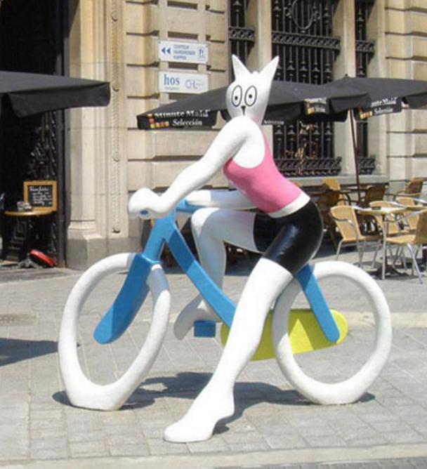 Alain Séchas,La Cycliste de Bruxelles, 2005