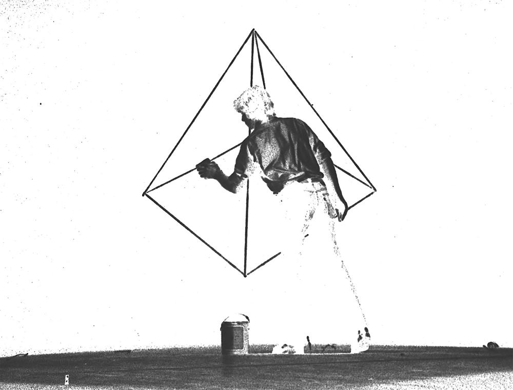 David Haxton, Pyramid Drawings, 1976-77, 16mm, nb, sil, 12min (détail)