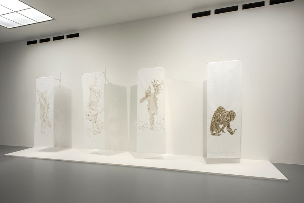 """""""Immolation I, II, III, IV,"""" by David Gheron Tretiakoff"""