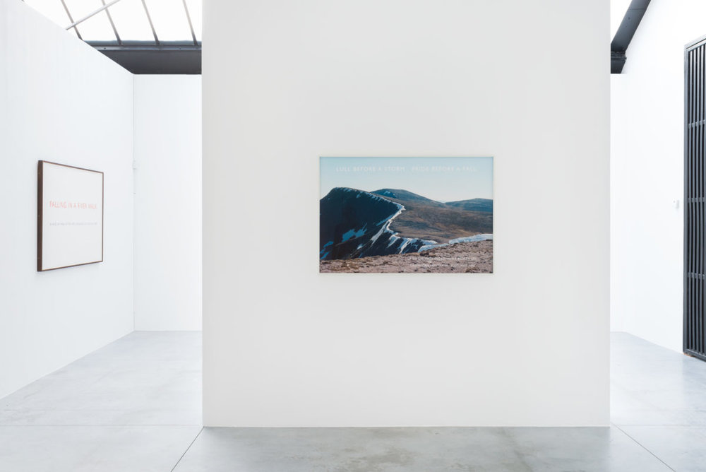 Richard Long, Along The Way, vue d'exposition, Fondation CAB