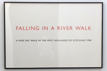 Richard Long, Falling in a River Walk, 1998, Text on Paper
