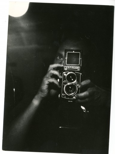 Autoportrait de Chris Marker au Roleix, l'une des rares photographies de lui