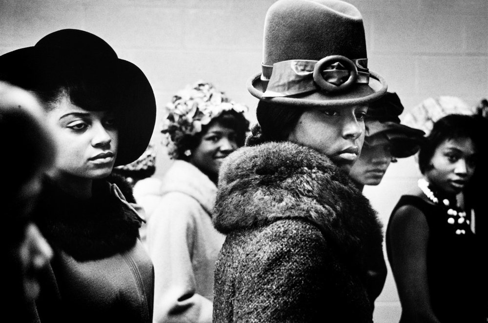 Leonard Freed, Harlem fashion show, 1963