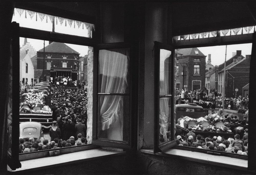 Coal Miners Funeral Belgium. 1956