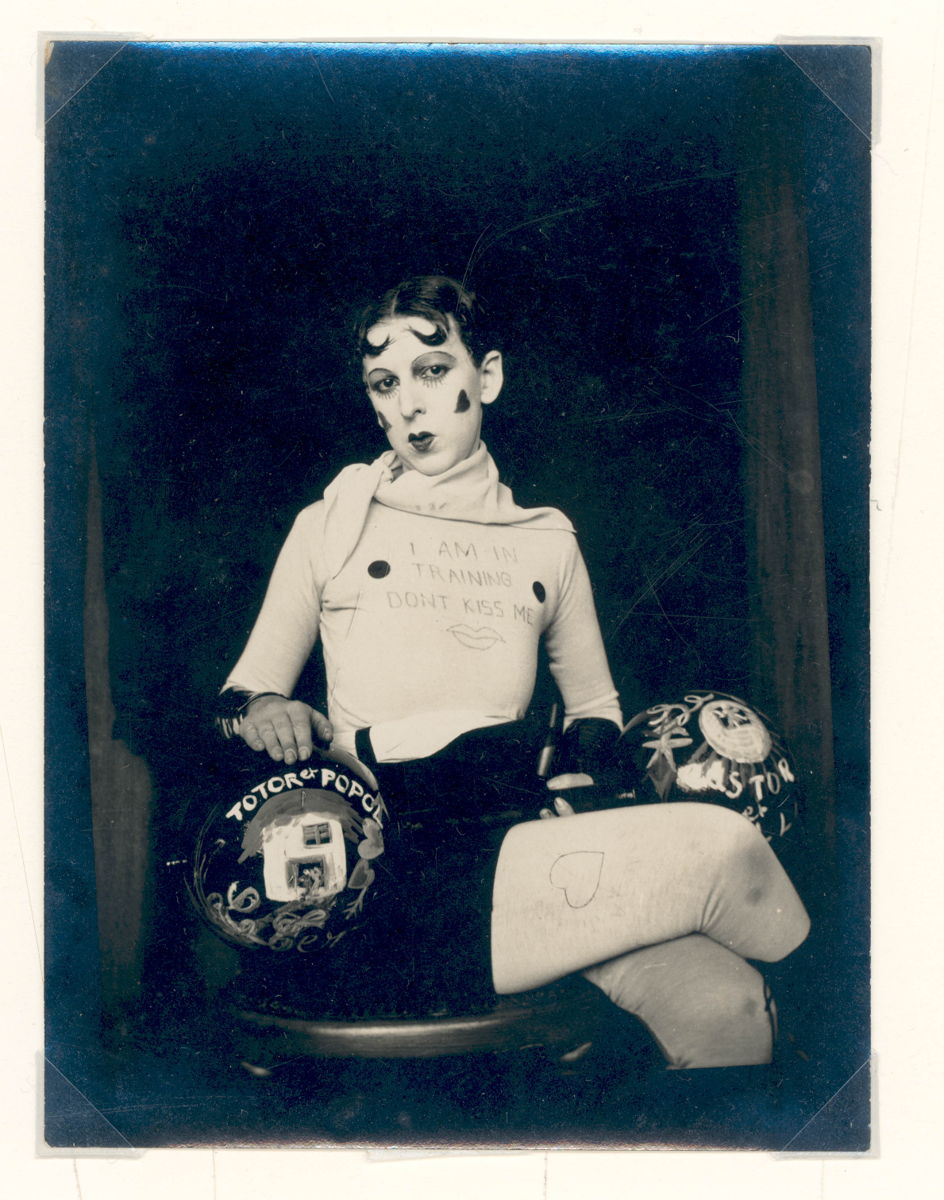 Claude Cahun, Untitled (Don't Kiss Me, I'm in Training), 1927.