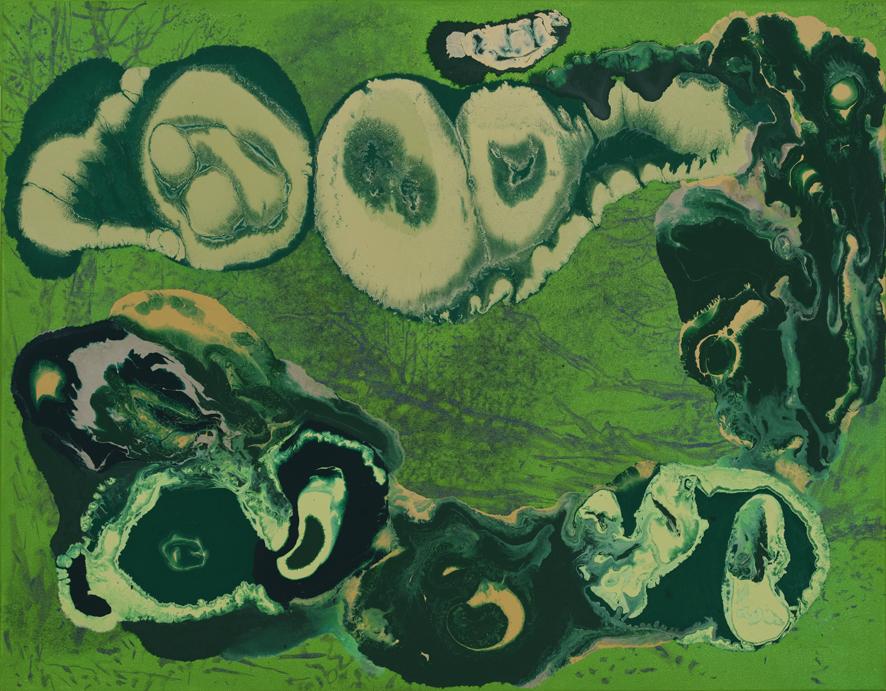 Paraziti, 2016, akryl na plátně, 95×115 cm