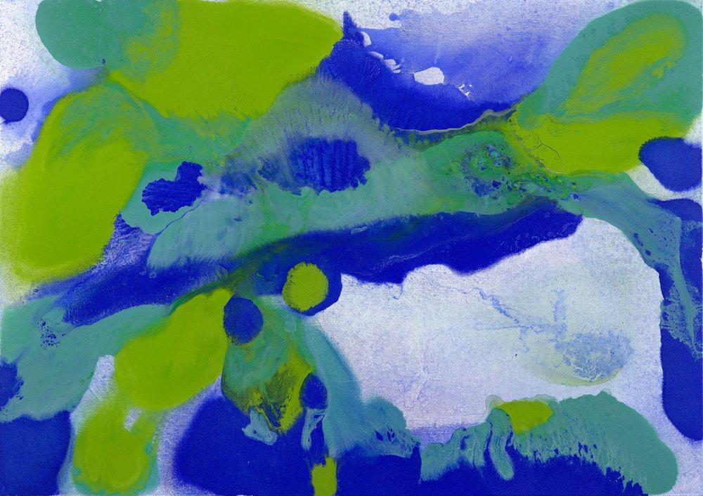 Laguna 2, 2016, akryl na plátně, 120×170 cm