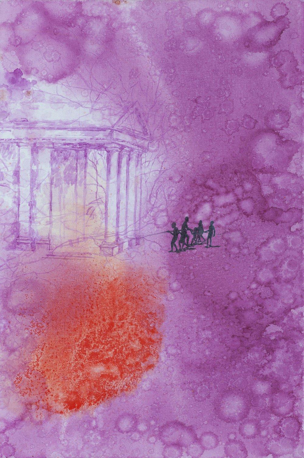 Chrám, 2009–15, olej na plátně, 75×50 cm