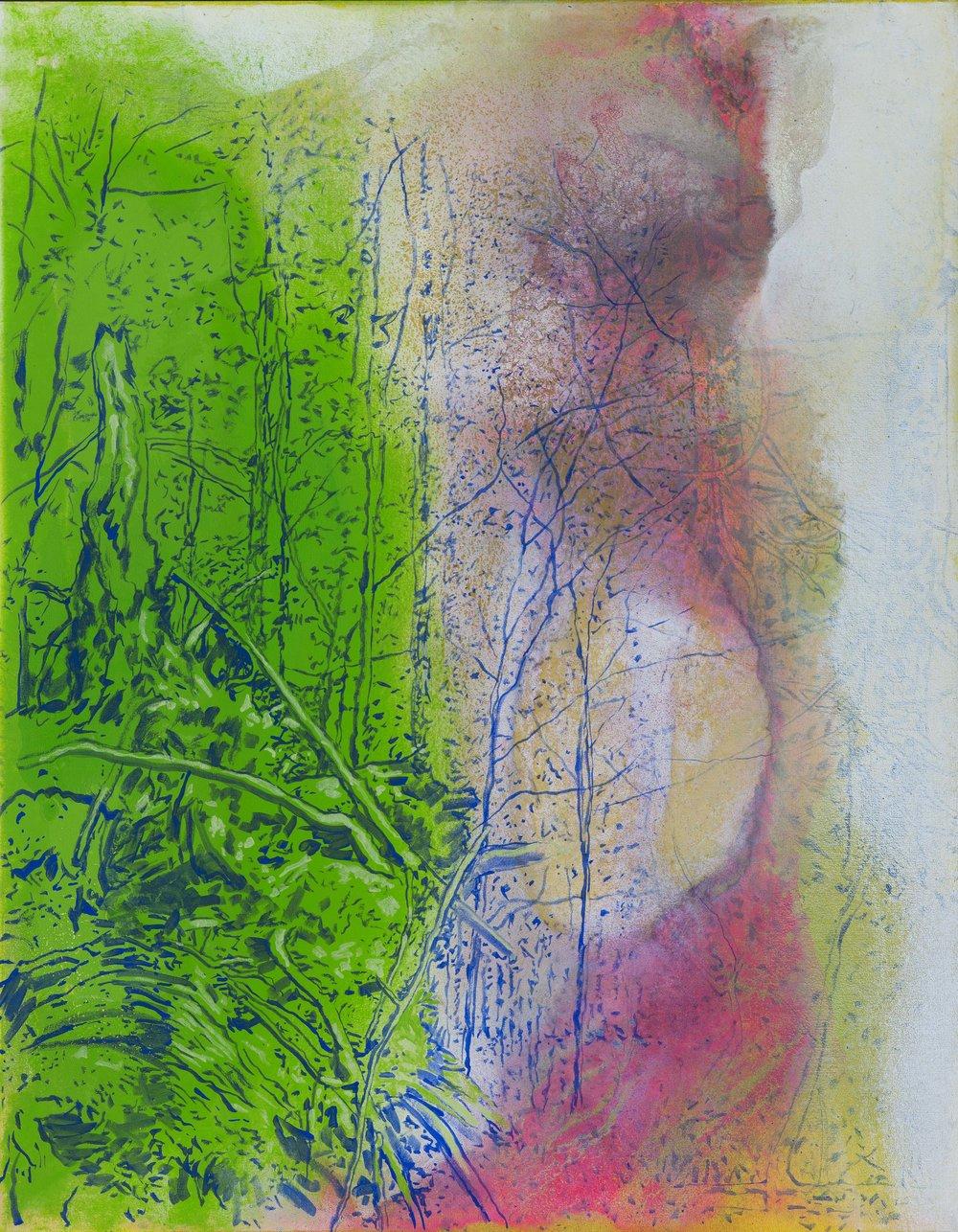 Dva světy, 2015–16, akryl na plátně, 115×95 cm