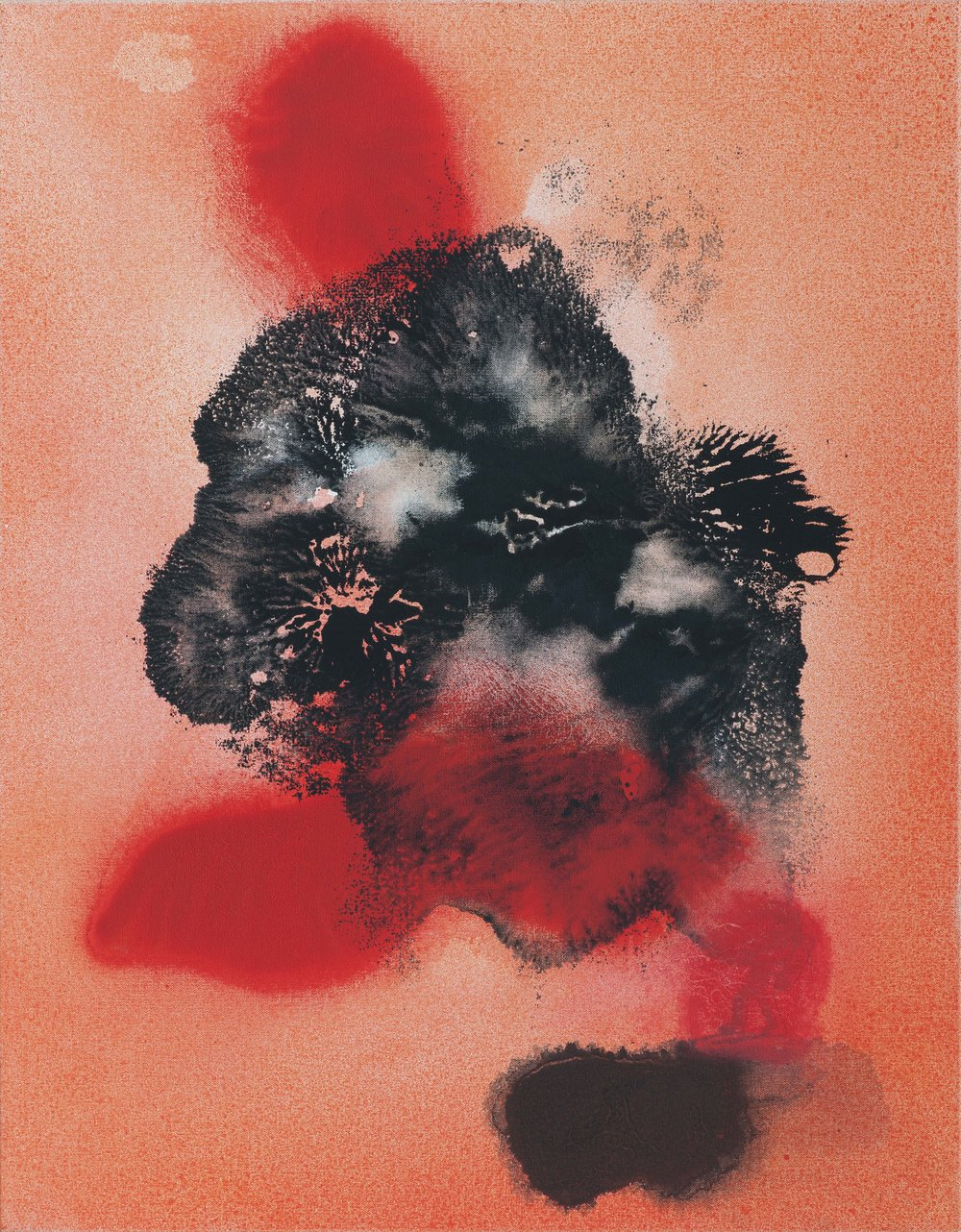 Břemeno, 2014–16, kombinovaná technika na plátně, 90×70 cm