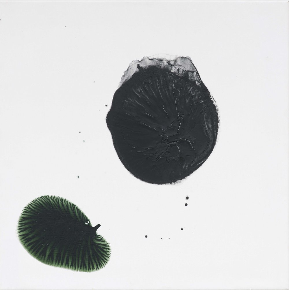 Zahrádka 1, 2014–15, akryl na plátně, 50×50 cm