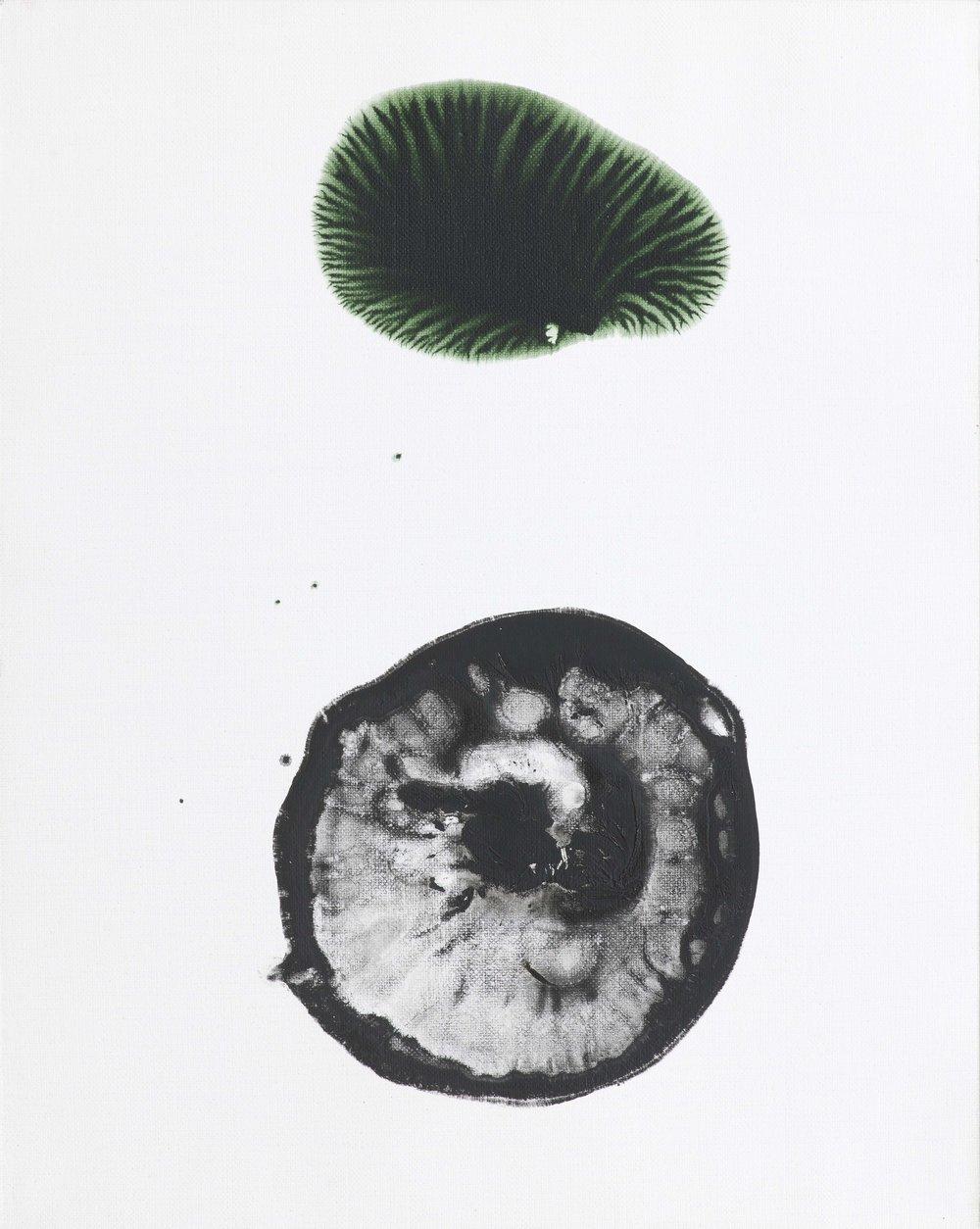 Zahrádka 2, 2014–15, akryl na plátně, 50×40 cm