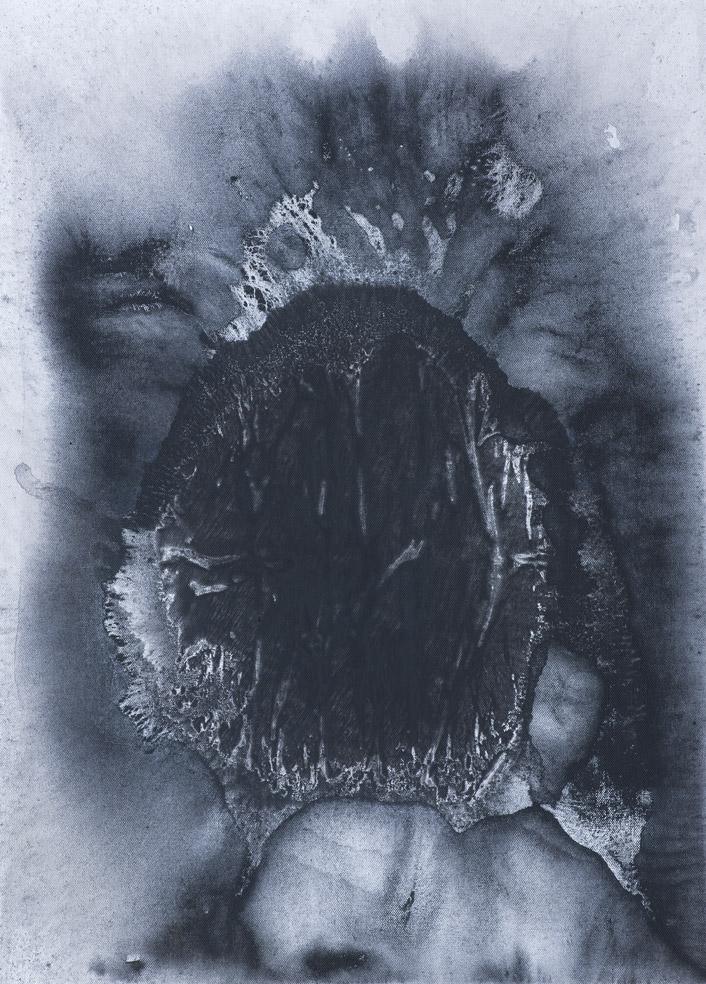 Maska, 2014, akryl na plátně, 70×50 cm