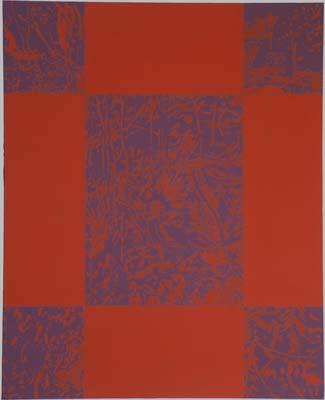 Hra III. 1994, akryl, plátno,  125×95 cm