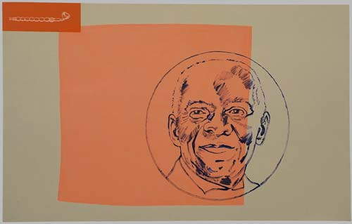 A přijde inspirace, 1996,  kombinovaná technika, 145×190 cm