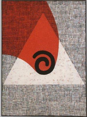 Pád I., 1987,  kombinovaná technika,  plátno  160×120 cm