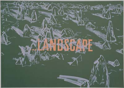 Landscape, 1994, kombinovaná technika, 65×85 cm