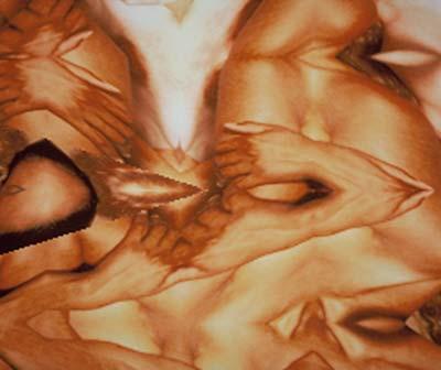 Seance, 1998,  počítačová grafika,  100×110 cm