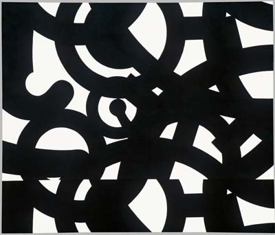 Mechanismus I., 1991, kombinovaná technika, 110×130 cm