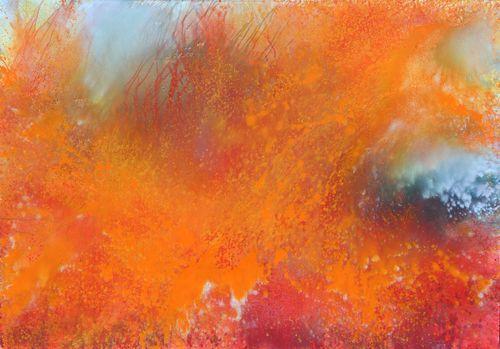 Oheň, 2008, akryl na plátně, 200 x 300 cm
