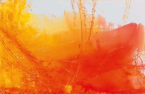 Gejzír, 2009, kombinovaná technika na plátně, 200 x 300 cm
