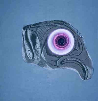 Černá díra, 2003, olej na plátně, 190×200 cm