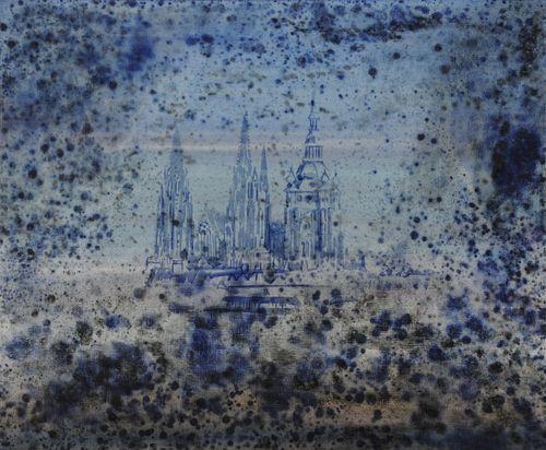 Katedrála, 2009, olej na plátně, 100 x 120 cm
