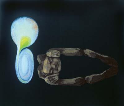Spící hvězda, 2002-2003, olej na plátně,  170×200 cm