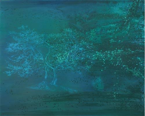 Ze života stromů II., 2007, akryl na plátně, 200 x 250 cm