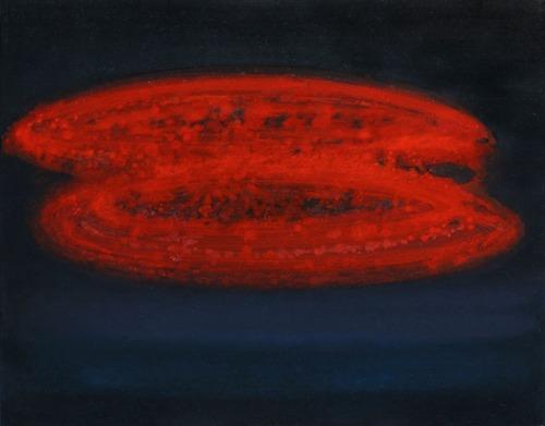 Červený mrak, 2010,  olej na plátně,  100×130 cm
