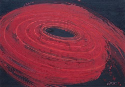 Vertigo VI., 2012,  kombinovaná technika na plátně,  70 x 100 cm