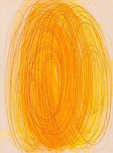 Vlákno IV., 2012,  kombinovaná technika na plátně,  80 x 60 cm