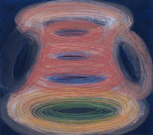 Hrnek, 2013, kombinovaná technika na plátně,  80 x 90 cm