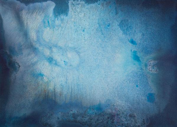 Hluboko 2, 2014,  kombinovaná technika na plátně,  145×200 cm
