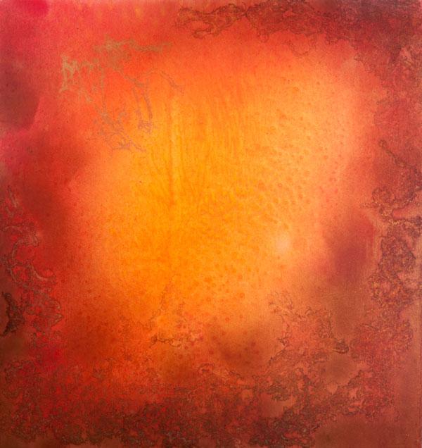 Žár, 2014,  kombinovaná technika na plátně,  160×150 cm
