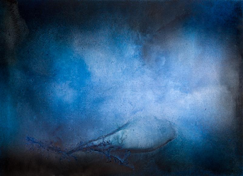 Hluboko 1, 2014,  kombinovaná technika na plátně,  145×200 cm