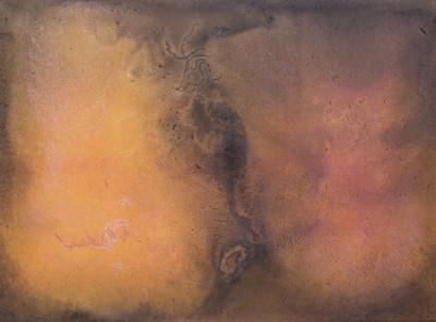 Vagína 2, 2014,  kombinovaná technika,  145×200 cm