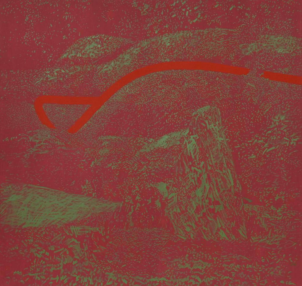 Japonské zahrady, 1992, olej na plátně, 190×200 cm
