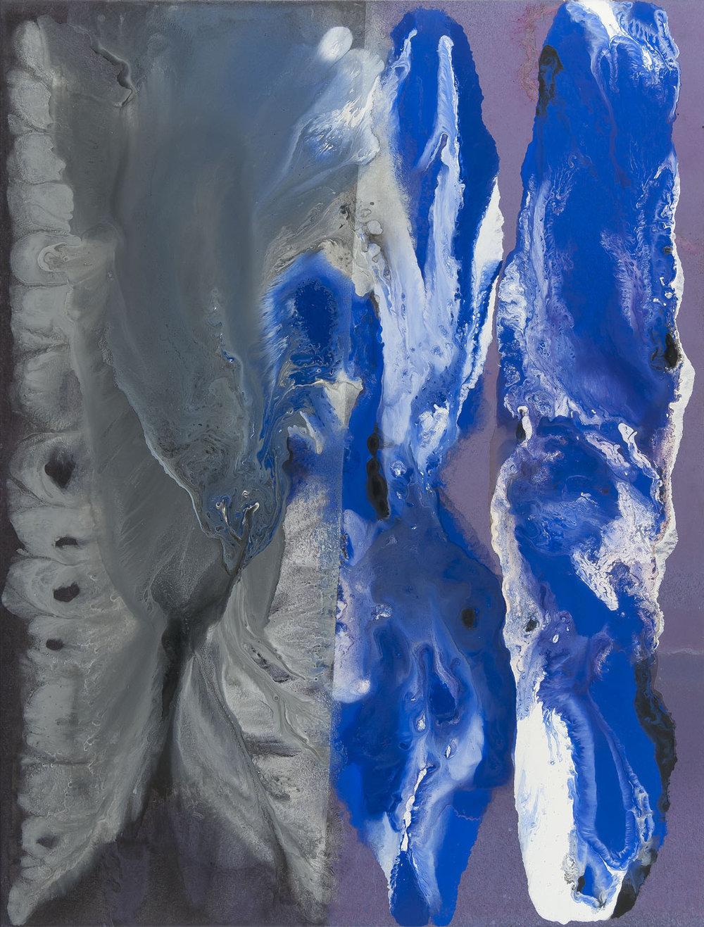 Vzdálená bouře, 2010 – 2016, akryl na plátně, 122×165 cm