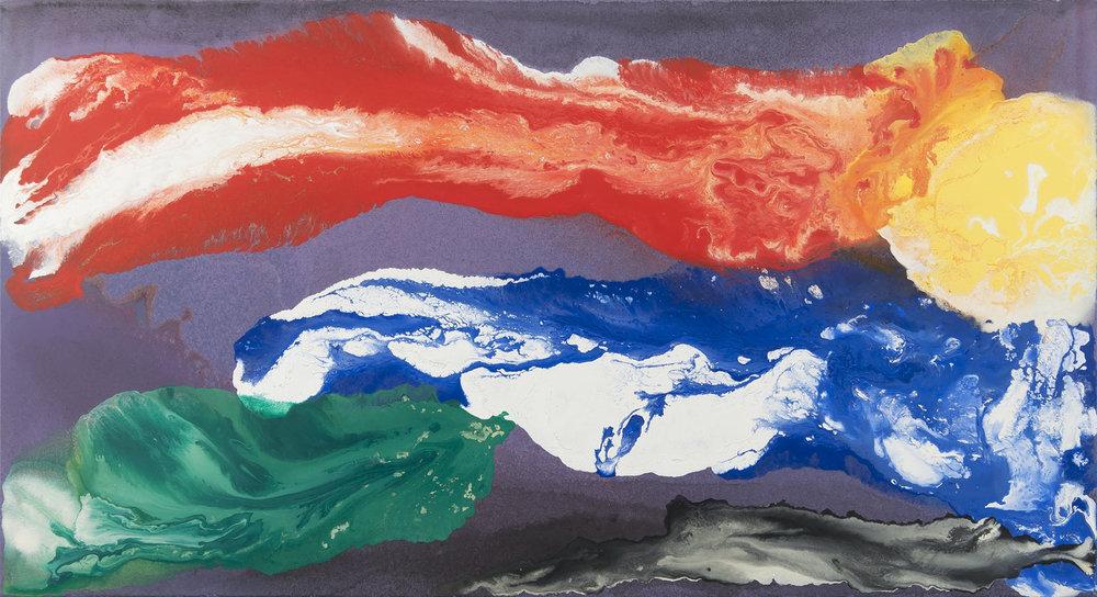 Sargasové moře, 2010 – 2016, akryl na plátně,  90×170 cm