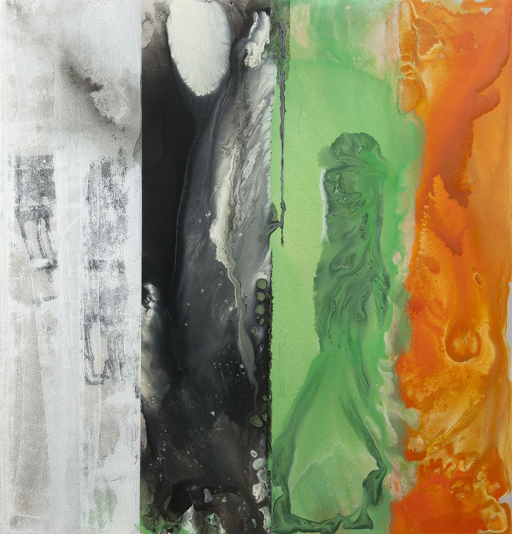 Afrika, akryl na plátně, 180x170 cm, 2017
