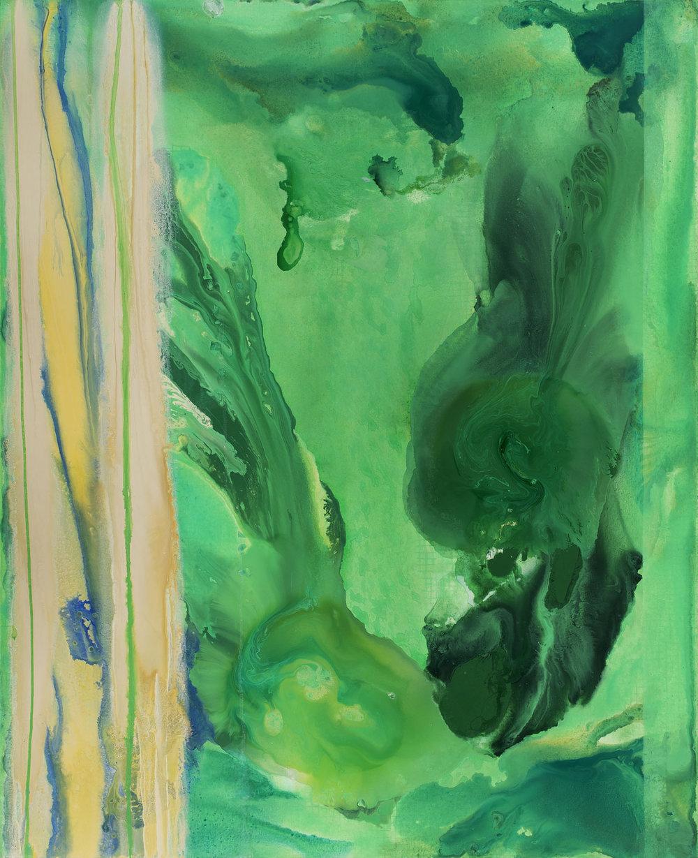 Amazonie, akryl na plátně, 200×160 cm, 2016-2017,