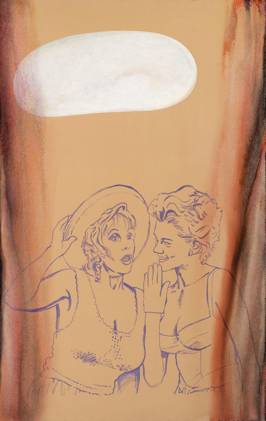 Ohořelá vložka, 1993-2018, akryl na plátně, 190x120 cm