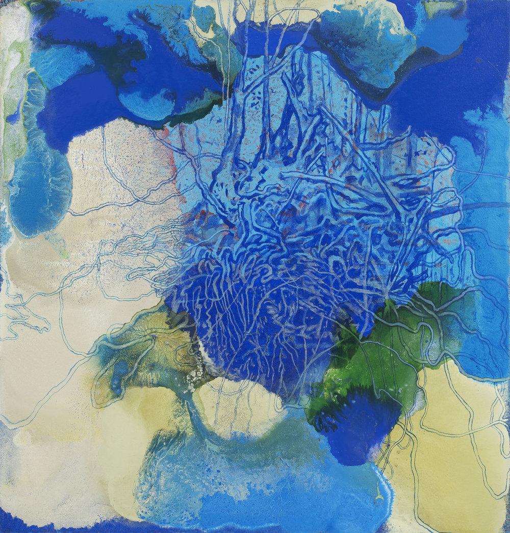 Kořeny, 2016, akryl na plátně, 95×90 cm