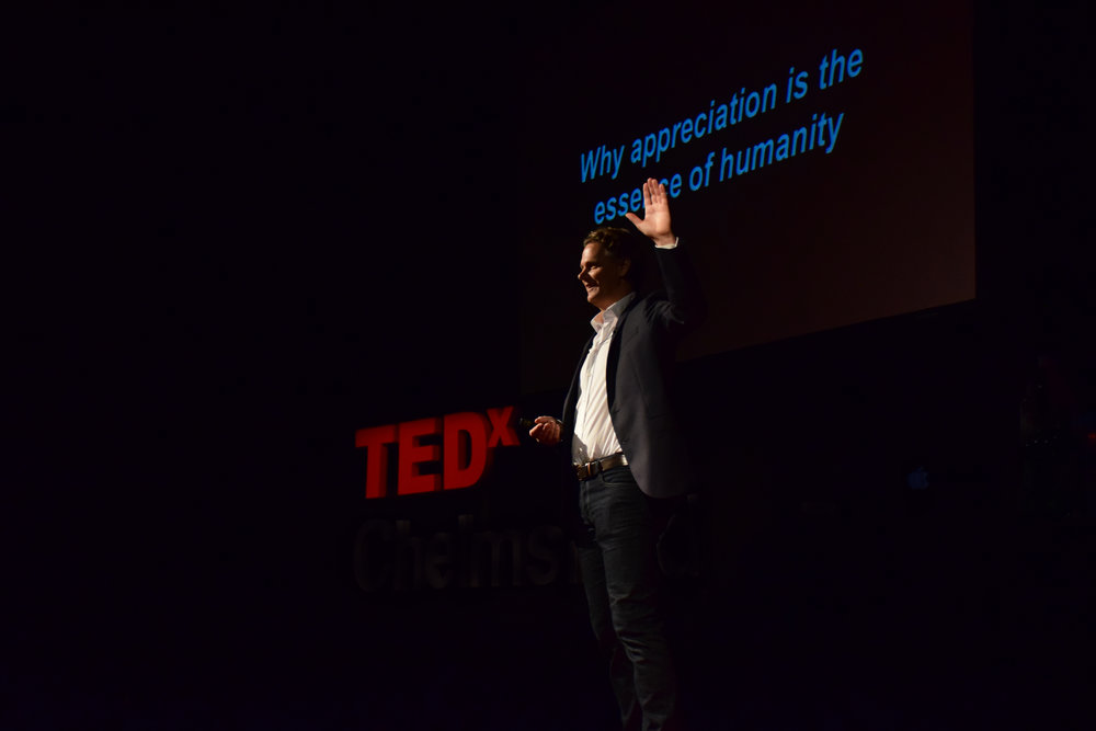 "November 2017 - Caspar was the opening speaker at TEDx Chelmsford speaking on the topic of values based leadership: ""Why Appreciation is the essence of humanity"". For more details,    go here."