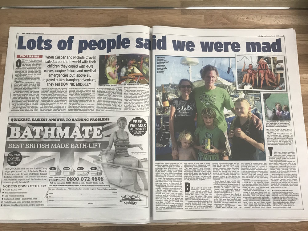Caspar was featured in the  Daily Express  in advance of the launch of  Where The Magic Happens.