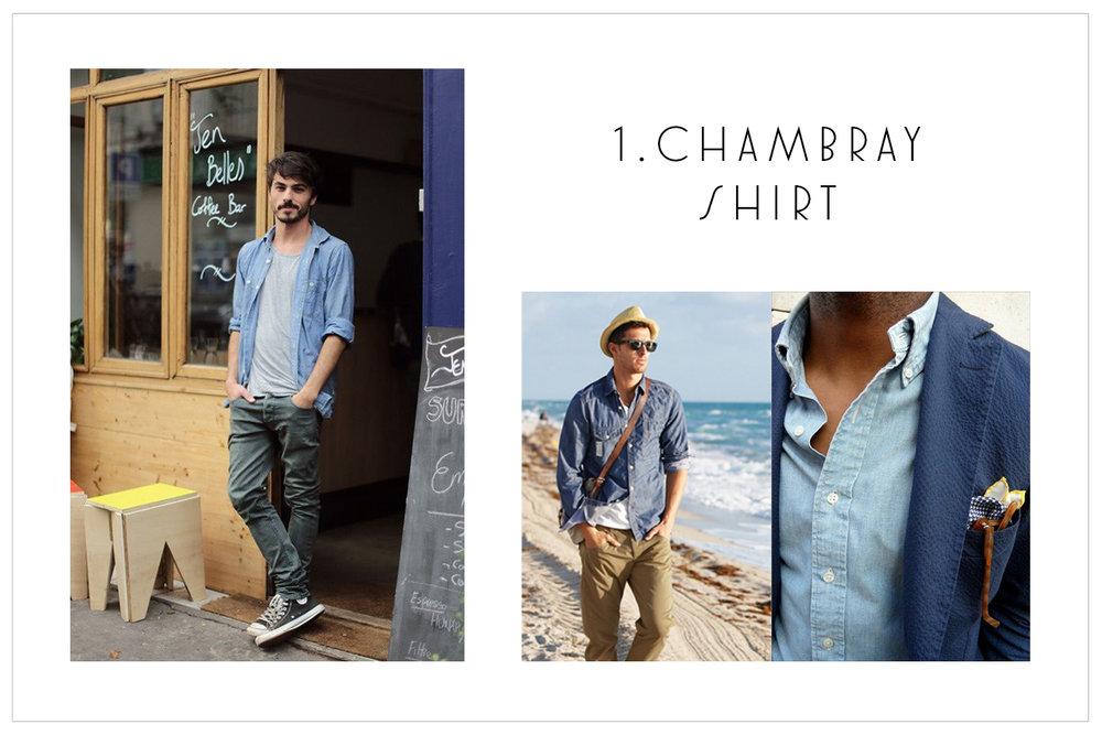 1.Chambray Shirt
