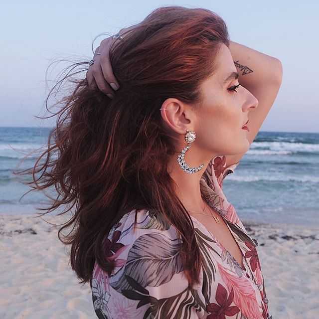 "FACT of the day: "" My love for statement earrings would never die! "" 📸 @elsaosta . . . . . #wedding #weddingfashion #statementearrings #whatiwore #petitejoys #fashionbloggers #summer #redhead #floral #floralstyle"